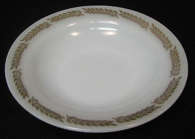 Federal Glass Company USA, ca. 1940's Soup Bowls. White with gold leaves
