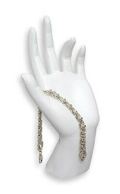 Necklace Ring Bracelet Bangle Watch Jewelry Hand Display White