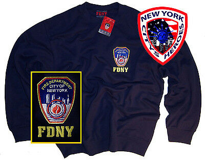 FDNY Shirt Sweatshirt Officially Licensed by The New York City Fire Department