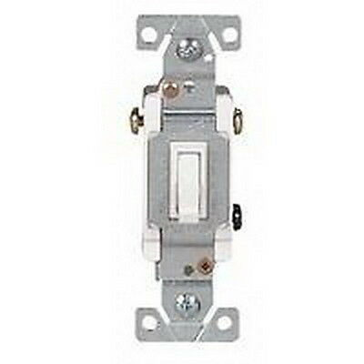 Cooper Wiring Devices 1303W 15A 120V White 3 Way Toggle Switch