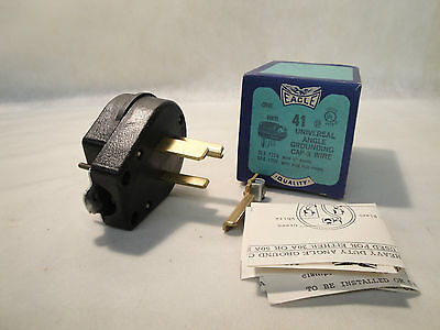 New In Box Eagle Electric 41 Universal Angle Grounding Cap 3 Wire Made In Usa