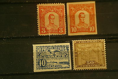 3401 LOT 4 TIMBRES neufs COLOMBIE COLOMBIA
