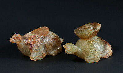 A Pair of Jade Tortoises Carrying Money