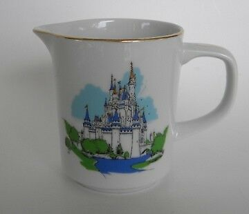 Vintage Walt Disney World Castle Small Creamer Japan Gold Trim Lettering