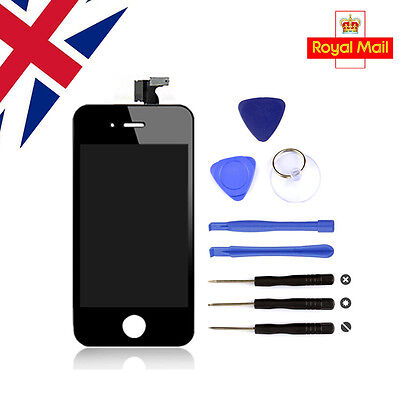 For iPhone 4S LCD Display Digitizer Touch Screen Assembly Black UK Replacement