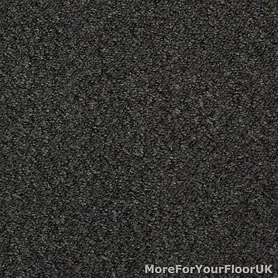 5 Metre Wide Carpet, Grey Black Carpet, Hardwearing Stain Resistant Berber Loop