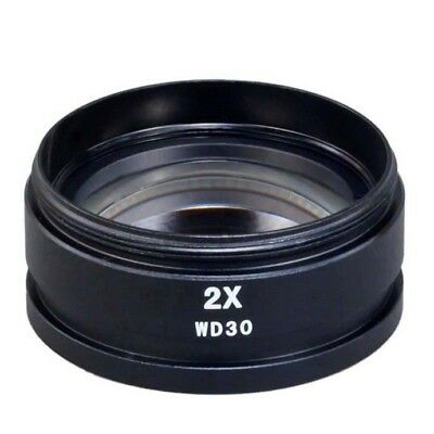 New 2x Auxiliary Objective Lens for Stereo Microscope Mounting Size D48mm
