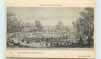 92-SAINT CLOUD-Chateau-Estampe  de 1730