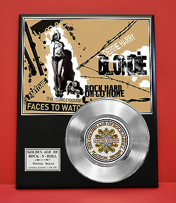 Blondie Platinum Record Limited Edition Rare  Collectible Music Display