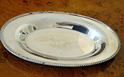 Poole Silver Co. Oval Serving Plate