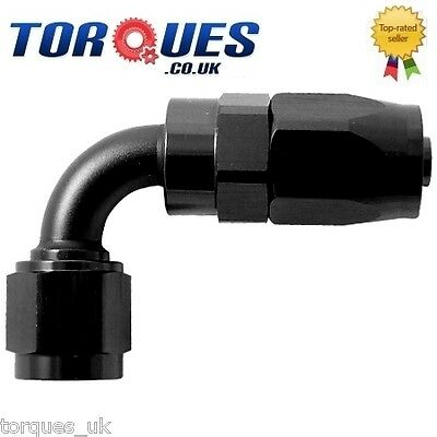 AN -6 AN6 (6AN JIC) 90 Degree FastFlow Stealth Black Hose Fitting
