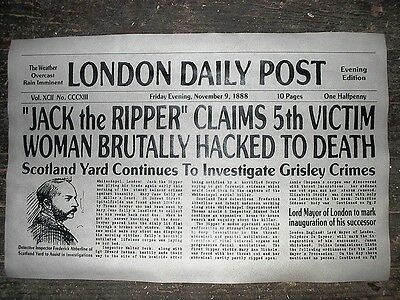 "(037) NOVELTY POSTER HALLOWEEN JACK the RIPPER WHITECHAPEL LONDON 18""x30"""