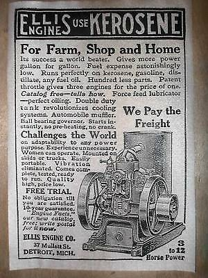 """291 VINTAGE REPRINT ADVERT GILSON SIXTY HIT/&MISS STATIONARY GAS ENGINE 11/""""x17/"""""""