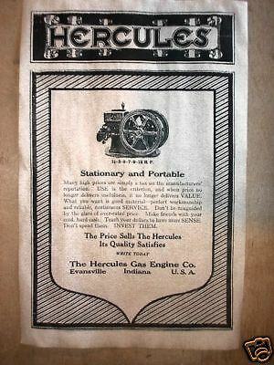"VINTAGE REPRINT ADVERT MONTGOMERY WARD 1929 STATIONARY GAS ENGINE 11/""x14/"" 002"