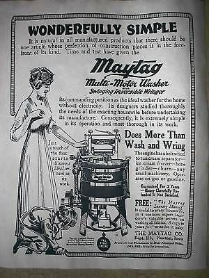 "(331) VINTAGE REPRINT ADVERT MAYTAG MOTOR CLOTHES WASHER 11""x14"""