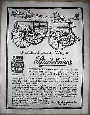 "(205) VINTAGE REPRINT ADVERT STUDEBAKER FARM WAGON 11""x14"""