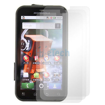 3x Brand New Clear LCD Screen Protector Cover case for Motorola DEFY MB525