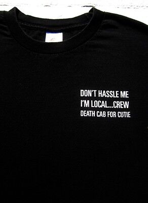 DEATH CAB for CUTIE Local Concert Crew XL T-SHIRT