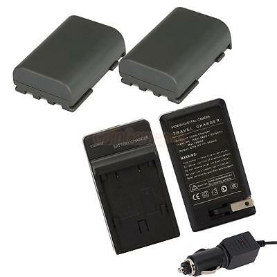 Charger+2 Battery for Canon Digital Rebel XT XTi NB-2LH EOS 350D 400D MV5i MV6i
