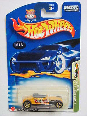 HOT WHEELS 2003 FLYING ACES II 2/5 TRACK T #076 YELLOW