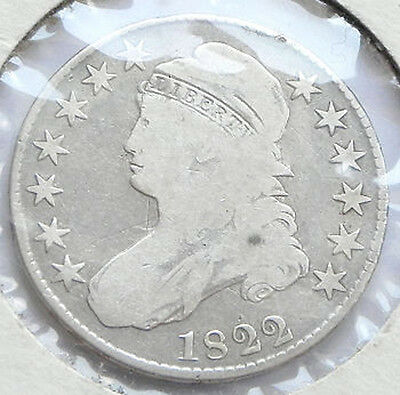 United States 1822 Cap Bust Half Dollar Silver Coin