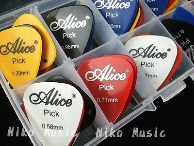 50pcs Acoustic Electric Guitar Picks Plectrums+1 Plastic Picks Box Case