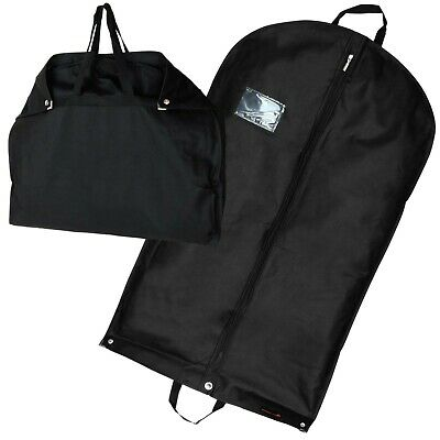 "Black Suit Cover Garment Clothes Shirt Travel Protector Bag 40"" Hangerworld"