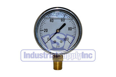 "0-100 psi 2.5"" Liquid-Filled Hydraulic Air Water Gauge"