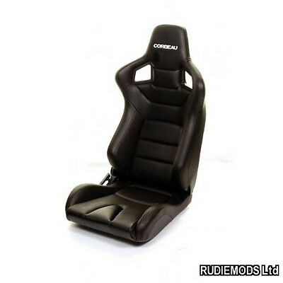 Corbeau Sportline RRS Reclining Car Bucket Seat Black