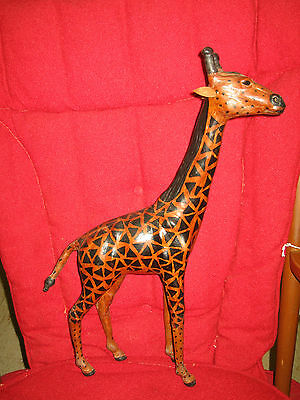 LEATHER GIRAFFE STATUE MADE IN INDIA