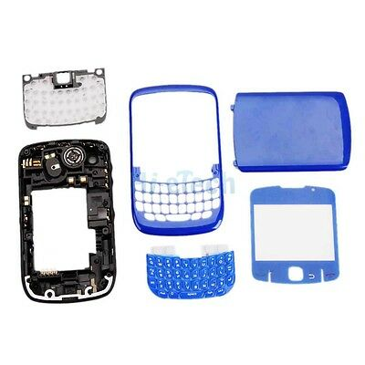 New Full Housing Cover Case for Blackberry Curve 8520 8530 Deep Blue + Tools