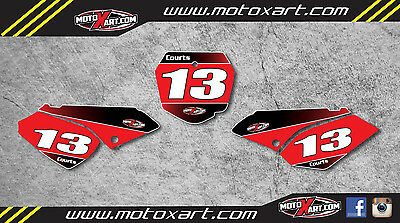 Custom Number plates for Suzuki DRZ 125 - 2001 / 2007 stickers decals graphics