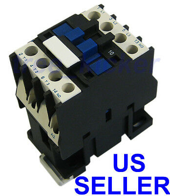 NEW AC Contactor Motor Starter Relay 3-Phase Pole 18A Up To 14HP 120 240V Coil