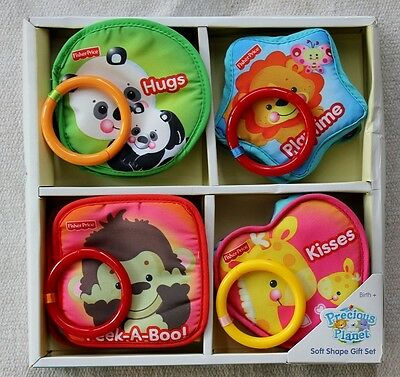 Fisher Price Precious planet Soft Books Shape Gift Set! Birth+