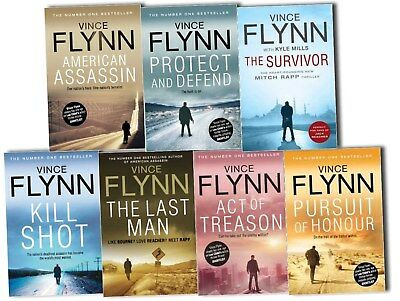 Vince Flynn Mitch Rapp 7 Books Collection Kill Shot, American ASSASSIN NEW