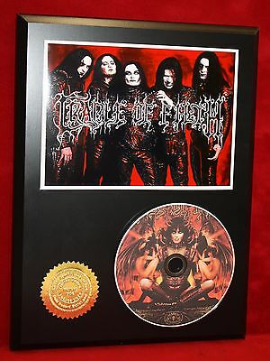 Cradle Of Filth Ltd Edition Picture Cd Collectible Award Quality Display