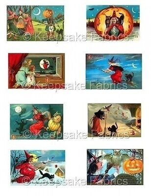 Old Fashioned Halloween Witches Cotton Appliques FrEE ShiPPinG WoRld WiDE