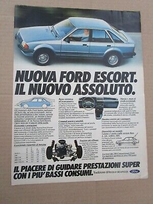 Advertising Pubblicita'  Nuova Ford Escort   - 1980