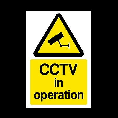 CCTV IN OPERATION PLASTIC RIGID SIGN 297 x 210mm A4 SIGN *CHEAP*