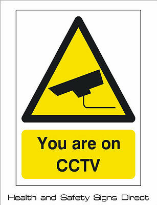 CCTV 'YOU ARE ON CCTV' PLASTIC RIGID SIGN 150 x 210mm *CHEAP*