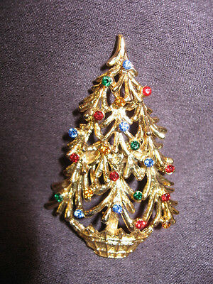 Christmas tree pin brooch H39