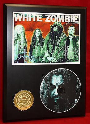 """White """"rob"""" Zombie Ltd Edition Picture Cd Disc Collectible Rare Gift Wall Art"""