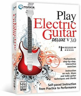 Play Electric Guitar Deluxe v3.0 - Professional Interactive Lesson PC/MAC NEW