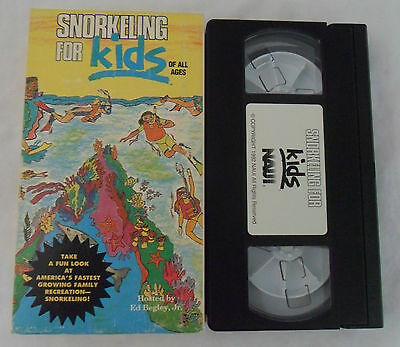 Snorkeling For Kids of All Ages Hosted by Ed Begley Jr. VHS Video Tape