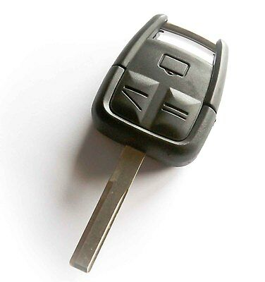 Vauxhall OPEL Vectra Astra Zafira 3 button Remote Key Fob Shell + Blank Blade