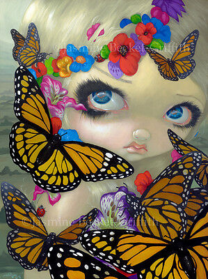 Jasmine Becket-Griffith art BIG print Monarch faerie butterfly queen fairy