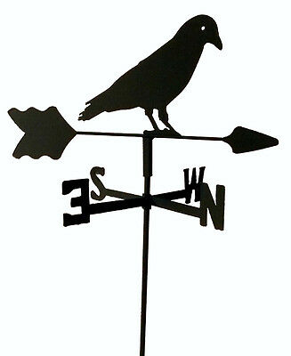 Black Crow Garden Style Weathervane Black Wrought Iron Look Made In Usa Tls1048I