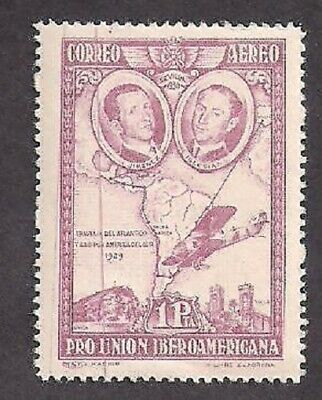 Spain Stamps- Scott # C55/A19-1p-Mint/NH-1930-Air Post-Error