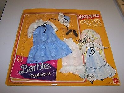 """NEW! Vtg 1976 Mattel SKIPPER Get-Ups 'N Go BARBIE """"Lacey Charmer"""" CLOTHES Outfit"""