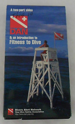 Divers Alert Network A two-part VHS Video Tape This is DAN & Fitness to Dive